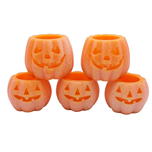 DRomance Decorative Flameless Candles Set of 5 with 6H Timer, Battery Operated Real Wax Candles  ...