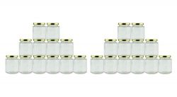 Cornucopia 6-Ounce Hexagon Jars (24-Pack); Clear Glass Bottles for Spices, Party Favors, Jams Etc