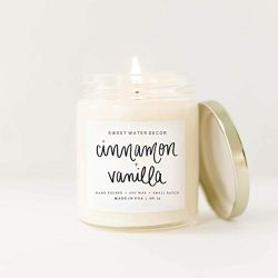 Cinnamon and Vanilla Natural Soy Wax Candle | Sweet Creamy Vanilla Cinnamon Home Sweet Fall Wint ...
