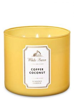W Copper Coconut 3-Wick Candle – Yellow