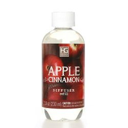 Aromatherapy Hosley Premium Apple Cinnamon Reed Diffuser Refills Oil, 230 ml (7.75 fl oz) Made i ...