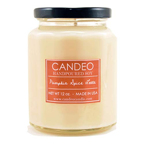 Pumpkin Spice Latte, Handpoured Soy Candle Jar, Made in The USA, 12 oz Jar Candle