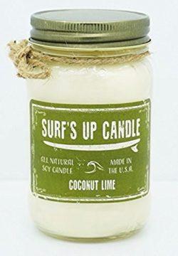 Surf's Up Mason Jar Candle Surf Wax 4oz