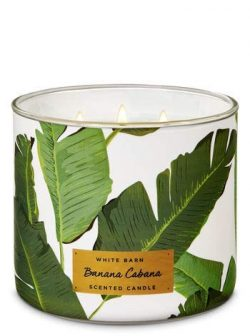 Bath and Body Works White Barn Banana Cabana 3 Wick Candle 14.5 ounce Full Size