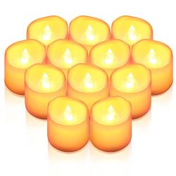 ORIA Flameless Candles, Led Candle Lights, Tea Lights, Realistic Bright Bulb, Battery Operated,  ...