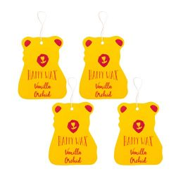 Happy Wax Scented Hanging Car Cub Air Freshener – Scented Car Freshener Infused with Natur ...