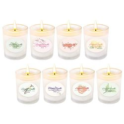 YINUO LIGHT Scented Candles Gift Set, 8 X 2.5 OZ Natural Soy Wax Votive Candle, for Women Stress ...