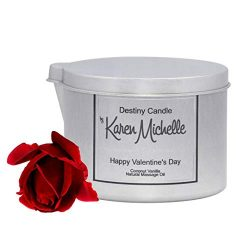 Happy Valentines Day – Coconut Vanilla Body Oil/Massage Jewelry Candle