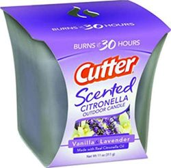 Cutter Scented Citronella Outdoor Candle, Vanilla & Lavender, 11-Ounce