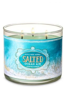White Barn Bath & Body Works 3 Wick Candle Salted Ocean Air