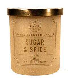 DW Home Sugar & Spice Candle 4 Ounce Travel Size – Cinnamon Vanilla Frosting Scented & ...