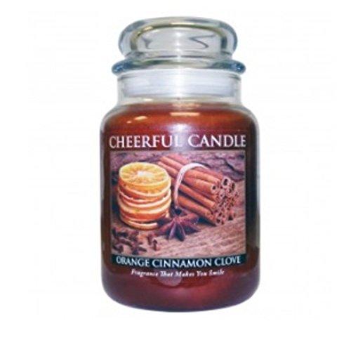 A Cheerful Giver Orange Cinnamon Clove Jar Candle, 24-Ounce