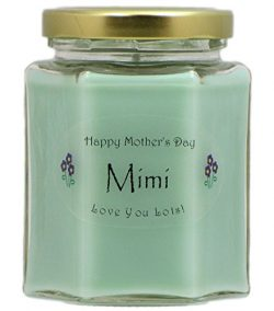 Just Makes Scents Mimi Mothers Day Candle – Cucumber Melon Scented Candle – Hand Pou ...