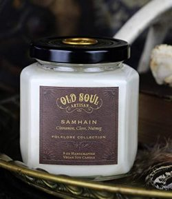 Samhain – Cinnamon, Clove, Nutmeg Candle – Pagan Witch Autumn Magick Ritual Goth Hal ...