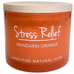 Stress Relief Mandarin Orange Scented Candle