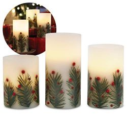 Order 3-Piece LED Candle Set with Automatic Daily Timer, Flameless Candles, Real Wax, Battery Po ...