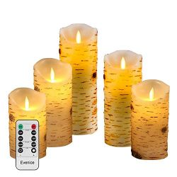 Evenice Flameless Candles Flickering Light Pillar Candles Real Smooth Wax for Gifts and Decorati ...