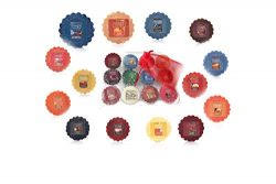 Yankee Candle Fall Wax Tarts Melts 12 Assorted in Storage Container Gift Box Plus Bonus Organza  ...