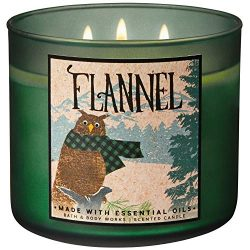 Bath and Body Works 2018 Holiday Limited Edition 3-Wick Candle (Flannel)