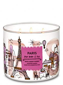 Bath & Body Works 3 Wick Candle, Paris Rose Water & Ivy