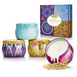 Scented Candles Gift Set, Natural Soy Wax 4.4 Oz Aromatherapy Candles, Soy Candles Gifts for Wom ...