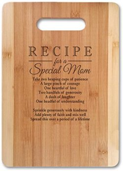 Mothers Gift Recipe for a Special Mom ( Small 11″ x 8.5″, Not Customized ) Bamboo Se ...