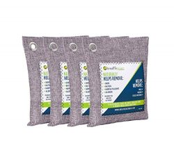 Breathe Green Charcoal Air Purifying Bag (4-Pack) | Activated Bamboo Charcoal Odor Absorber | Na ...