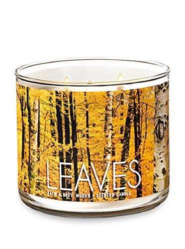 Bath and Body Works White Barn Leaves  3 Wick Scented Candle 14.5 Ounce