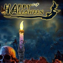 Hot Sale!DEESEE(TM)1pcs Halloween Candle with LED Tea light Candles for Halloween Decoration par ...