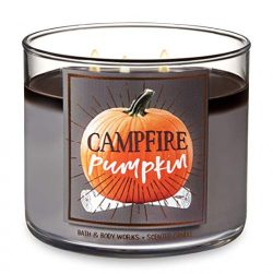 Bath and Body Works Campfire Pumpkin – Large 14.5 Ounce 3-Wick Candle – Limited Edit ...