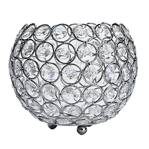 Jeeke Crystal Vase Candle Holder Crystal Decor for Christmas Valentines Day Wedding Table Decora ...