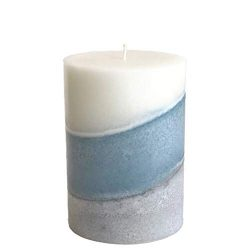 Wicks N More Handmade Pillar Candle Clean Slate Fresh Scent (3×4)