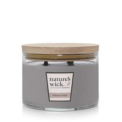 Nature's Wick Scented 18 oz. 3 Jarred Natural Wood Wick Candle with up to 48 Hour Burn Tim ...