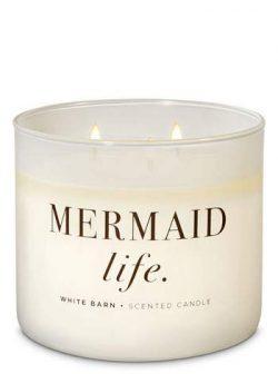 White Barn Bath & Body Works 3 Wick Candle Mermaid Life