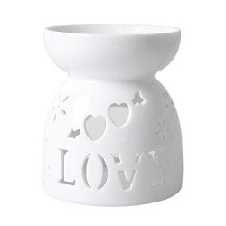 HwaGui – Ceramic Tea Light Holder and Wax Warmer, Aromatherapy Essential Oil Burner, Great ...