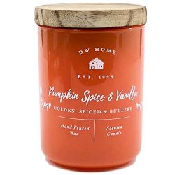 DW Home Small Pumpkin Spice Vanilla Scented Candle