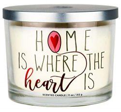 """Aromascape """"Home is Where the Heart Is"""" 3-Wick Scented Candle (Brown Sugar Pecan, Ci ..."""