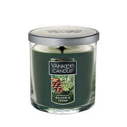Yankee Candle Balsam & Cedar Small Single Wick Tumbler Candle, Festive Scent