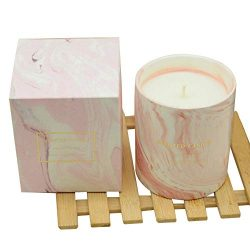 Wimzy Creations Marbled Ceramic Cup Scented Candle – Flower