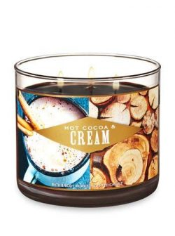 Bath & Body Works Hot Cocoa & Cream 3 wick candle 2018