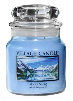 Village Candle Glacial Spring 16 oz Glass Jar Scented Candle, Medium,