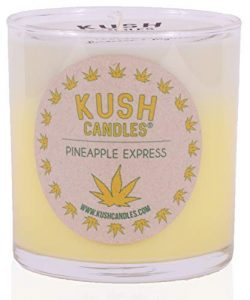 Pineapple Express Kush Candles, 55 Hour Burn Time Pure Soy Wax and Hemp Seed Oil Blend + Infused ...