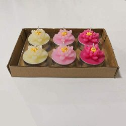 COCOMOON New Artificial Flower Tea Light Candles 12 Pcs,Perfect for Valentine's Day Birthd ...