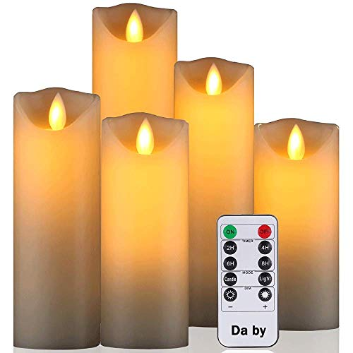 Da by Flameless Candle 5″ 6″ 7″ 8″ 9″ Set of 5 Realistic Dancing L ...