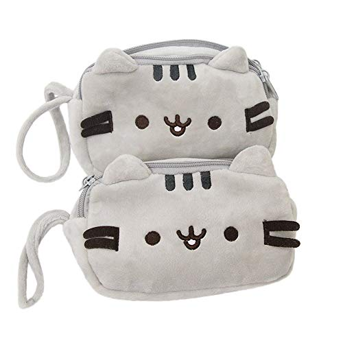 AIUSD Clearance , Cat Pencil Case Cute Plush Pen Bag Makeup Pouch Cosmetic Bag Kid Stationery Gift