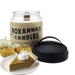 Pumpkin Pie Soy Candle with Crackling Wooden Wick | Handmade Artisan Scented Natural Fragrances  ...