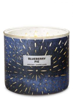 Bath and Body Works White Barn Blueberry Pie 3 Wick Candle 14.5 ounce