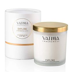 VATIMA Explore Scented Candle – Hand-Poured, Eco-Friendly and Organic Soy Wax Candles for  ...