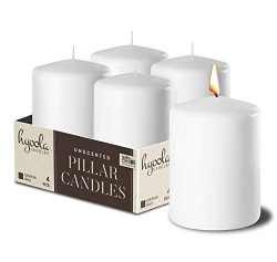 White Pillar Candles 2×3 Inch – Unscented Pillar Candles – Set of 4 – Mad ...