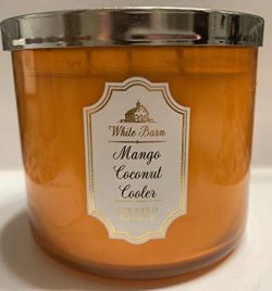 Bath and Body Works White Barn Mango Coconut Cooler 14.5 Ounce 3 Wick Candle